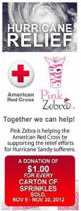Pink zebra home donating $1 for every carton of sprinkles sold