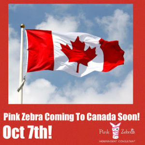 pink zebra comes to Canada